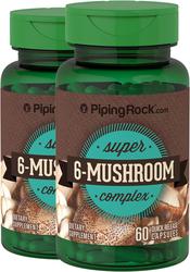 6 Mushroom Extract Complex 2 Bottles x 60 Capsules