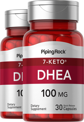 7-Keto DHEA 100mg Supplement Weight Loss Management 2 Bottles x 30 Capsules