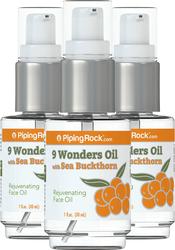 9 Wonders Oil with Sea Buckthorn 3 Pump Bottles x 1 fl oz (30 ml)