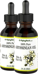 Abyssinian Oil 100% Pure 2 Dropper Bottles x 2 fl oz (59 ml)