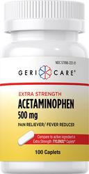 Paracetamol, 500mg En comparación con TYLENOL 100 Comprimidos
