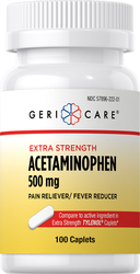 Acetaminophen 500 mg Vergelijkbaar met TYLENOL  100 Capletten