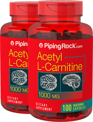 Acetyl L-Carnitine 1000mg 2 Bottles x 100 Capsules