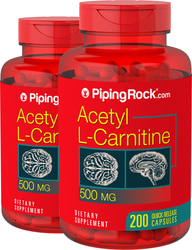 Acetyl L-Carnitine, 500 mg, 2 x 200 Capsules