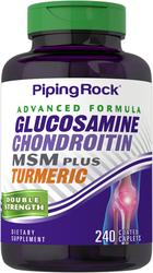 Geavanceerde glucosaminechondroïtine dubbele sterkte MSM-plus Kurkuma 240 Gecoate capletten