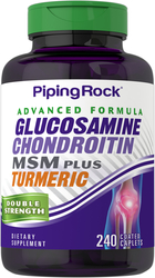 Glucosamine Chondroitin MSM Double Strength plus Turmeric 240 Coated Caplets