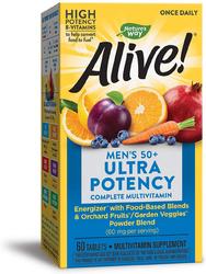 Alive! Once Daily Men's 50+ Multi-Vitamin Ultra Potency, 60 Tabs