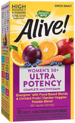 Alive! Once Daily Women's 50+ Multivitamin 60 Tabletten