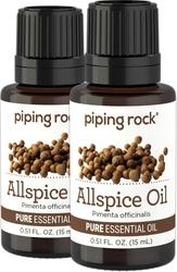 Allspice 100% Pure Essential Oil 2 Dropper Bottles x 1/2 oz (15 ml)