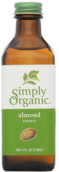 Simply Organic Almond Extract 4 fl oz (118 ml) Bottle