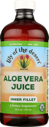 Aloe Vera Juice Certified Organic 16 fl oz for Joint Pain