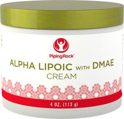 Creme de ácido alfa-lipóico com DMAE 4 oz (113 g) Boião