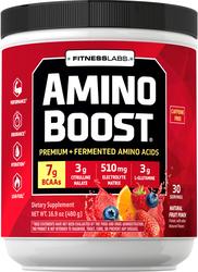 Amino Boost Pó de BCAA (sabor natural de ponche de frutas) 16.9 oz (480 g) Frasco