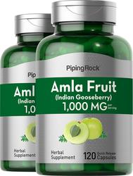 Amla Fruit 1000 mg (per serving) (Indian Goosberry) 2 Bottles x 120 Capsules