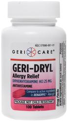 抗ヒスタミンク薬ジフェンヒドラミン HCl 25 mg (アレルギー緩和) 100 錠剤