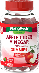 リンゴ酢 (天然アップル) 75 Vegan Gummies