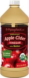 リンゴ酢、酵母入り (オーガニック) 16 fl oz (473 mL) ボトル