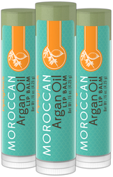 Argan Oil Lip Balm 3 Pack 3 Tubes x 0.15 oz (4 g)