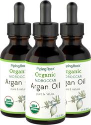 Minyak Argan Emas Cair Maroko Murni (Organik) 2 fl oz (59 mL) Botol Penetes
