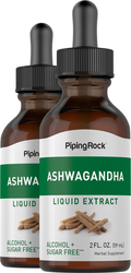 Ashwagandha Liquid Extract 2 Dropper Bottles x 2 fl oz (59 mL)