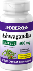 Ashwagandha Standardized Extract, 300 mg, 120 Veg Caps