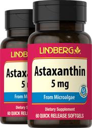 Astaxanthin 5 mg, 60 Softgels x 2 Bottles