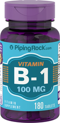 Vitamin B-1 100 mg (Thiamin) 180 Tablets