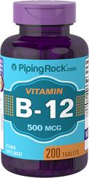 Vitamin B-12  500mcg 200 Tablets