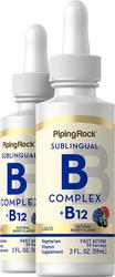 Cecair B-12 dengan B-Kompleks 2 fl oz (59 mL) Botol Penitis