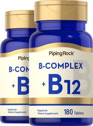B Complex + VitaminB-12 2 Bottles x 180 Tablets