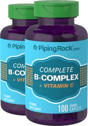 B-Complex plus Vitamin C 100 Overtrukne kapsler