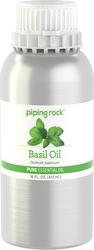 Óleo essencial puro de manjericão (Teste de GC/MS) 16 fl oz (473 mL) Lata