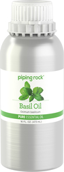 Basil Pure Essential Oil (GC/MS Tested), 16 fl oz (473 mL) Canister
