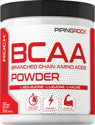 Pó de BCAA (aminoácidos de cadeia ramificada) 9 oz (255 g) Frasco