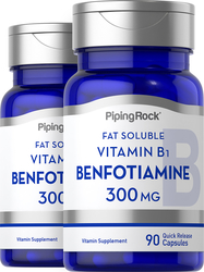 Benfotiamine Supplement (Fat Soluble Vitamin B-1) 300 mg, 90 Capsules