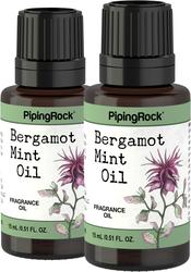 Aceite con fragancia de menta y bergamota 1/2 fl oz (15 mL) Frasco con dosificador