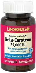 Beta Carotene 25,000 IU, 100 Softgels