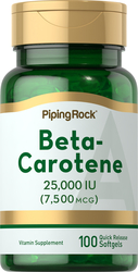 Béta-Carotène (Vitamine A) 100 Capsules molles à libération rapide