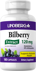 Bilberry Standardized Extract, 120 mg, 180 Capsules