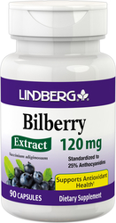 Bilberry Standardized Extract, 120 mg, 90 Capsules