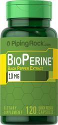BioPerine Black Pepper Extract 10 mg, 120 Capsules