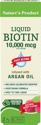 Biotin Liquid (Natural Berry) 2 fl oz (59 mL) Flasche