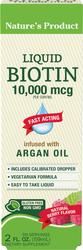 Biotin Liquid (Natural Berry) 2 fl oz (59 mL) Frasco
