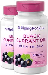 Black Currant Seed Oil 500 mg 2 Bottles x 90 Softgels