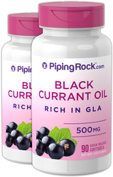 Black Currant Seed Oil 500 mg 2 Bottles x 90 Softgels