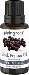 Huile essentielle pure au poivre noir (GC/MS Testé) 1/2 fl oz (15 mL) Compte-gouttes en verre