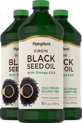 Black Seed Cumin Oil - Cold Pressed  3 Bottles x 16 fl oz