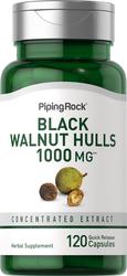 Black Walnut Hulls 500 mg 2 Bottles x 60 Capsules Herbal Health Tonic