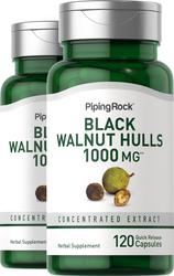 Black Walnut 1000 mg, 120 Capsules x 2 Bottles