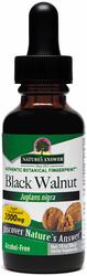 Extrait liquide de coques de noix noires sans alcool 1 fl oz (30 mL) Compte-gouttes en verre
